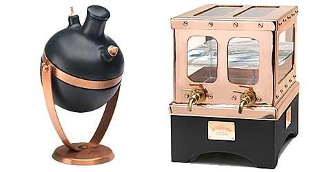 Morrison Bowmore Distillers has launched two dispensers: the water safe (left) and the tilter.