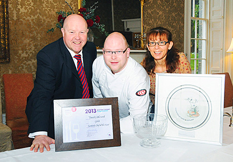 Cooking up a storm: David Littlewood (centre) with Neil and Julie Rae.