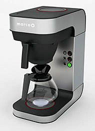 MARCO Beverage Systems has announced the launch of a stylish new range of pour over coffee makers, 'BRU'